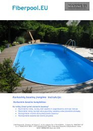 karkasinio baseino instrukcija - UAB Fiberpool.eu