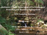 Baltimore County Department of Environmental Protection and ...