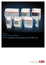 Electricity meters for modular enclosures and DIN rail
