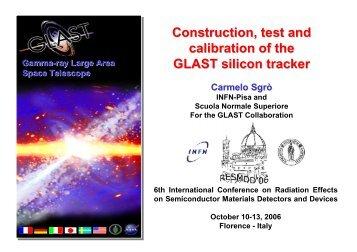 Test - GLAST at INFN-Pisa - Infn
