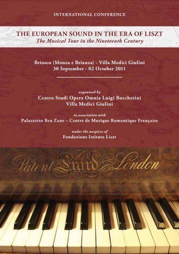 the european sound in the era of liszt - Centro Studi Opera Omnia ...