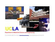 Department of Materials Science and Engineering - UCLA ...