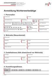Anmeldung Nichterwerbstätige - Ausgleichskasse Luzern