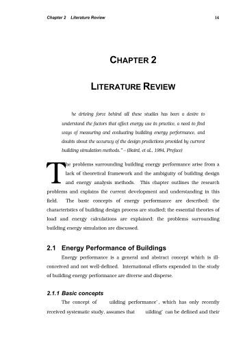 Literature reviews - Example 1