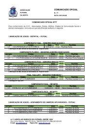 COMUNICADO OFICIAL - Associação de Futebol da Horta
