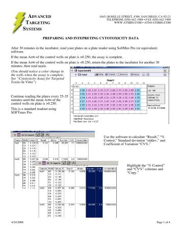 Preparing and Interpreting Cytotoxicity Data - Advanced Targeting ...