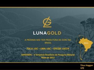 O Projeto e a Mina de Ouro de Aurizona, Maranhão - ADIMB