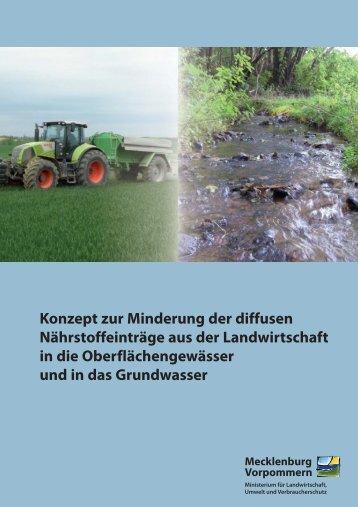 Konzept zur Minderung der diffusen Nährstoffeinträge aus der ...