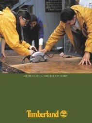CORPORATE SOCIAL RESPONSIBILITY REPORT - Timberland ...