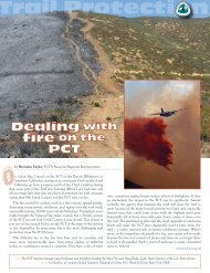 Dealing with fire on the PCT - Pacific Crest Trail Association