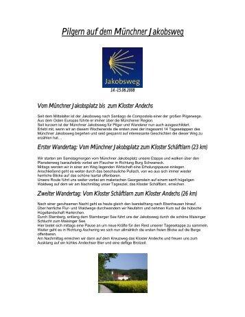 Vom Münchner Jakobsplatz bis zum Kloster Andechs - Gerrit Meyer