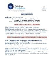programação - Faculdade de Comunicação e Artes - PUC Minas