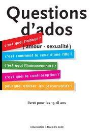 Questions d'ados - Brochure - Ministère de l'Éducation nationale