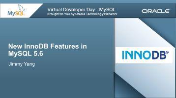Presentation (PDF) - MySQL