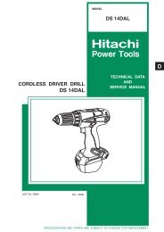 CORDLESS DRIVER DRILL Model DS 14DAL - Hitachi