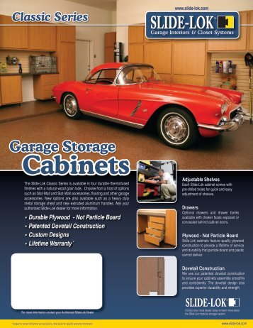 Cabinets Brochure - For Your Garage