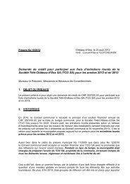 Préavis 19-2012 - Demande de soutien financier ... - Château-d'Oex