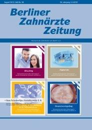 BZZ_2013_08 - Verband der Zahnärzte von Berlin