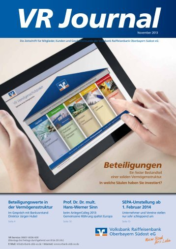 Ausgabe November 2013 als PDF (8,9 MB) - Volksbank ...