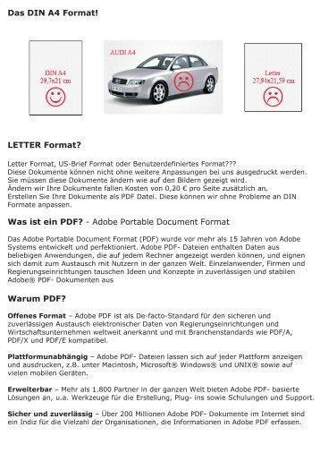 Letter Format Din A4 Internationale Standard Din Papierformate