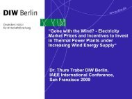 """Gone with the Wind? - Electricity Market Prices and Incentives to ..."