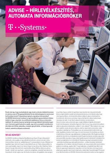 aDViSE – HírlEVélkéSzítéS, autoMata inforMációbrókEr - T-Systems