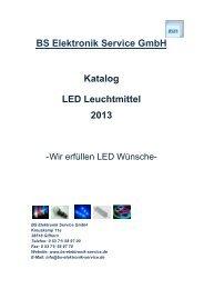 BS Elektronik Service GmbH Katalog LED Leuchtmittel 2013