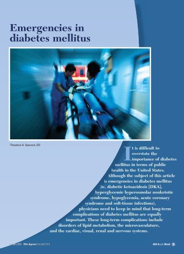 Emergencies in diabetes mellitus - CECity