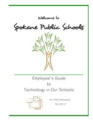 Employee's Guide to Technology in Our Schools - Spokane Public ...