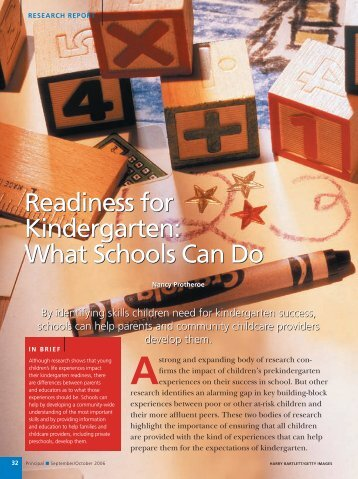 Readiness for Kindergarten: What Schools Can Do - National ...