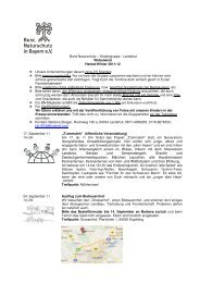 Herbst- und Winterprogramm 2011 - Kreisgruppe Landshut des ...