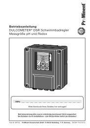 Betriebsanleitung - DULCOMETER® DSR ... - ProMinent
