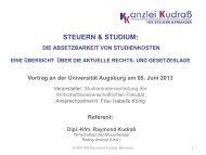 Steuervortrag 05.06.2013 zur steuerlichen Absetzbarkeit von ...