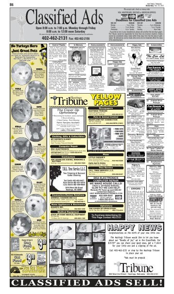 CLASSIFIED ADS SELL! - Hastings Tribune