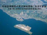 中部空港建設が周辺海域環境に及ぼす影響 - 愛知工業大学