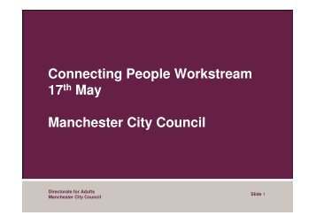 Directorate for Adults - Manchester Strategic Housing Partnership