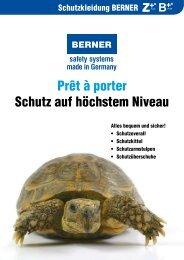 Prospekt Berner Schutzkleidung Z Plus+ B Plus+