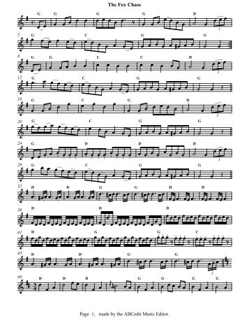 The Fox Chase 4 3 - Free Celtic Sheet Music