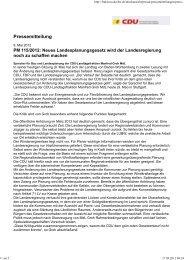 CDU Pressemitteilung - BI Gegenwind-Mudau