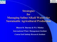 Strategies for Managing Saline/Alkali Waters for Sustainable ...