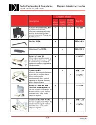 Actuator Accessories Type A - Dodge Engineering & Controls, Inc.