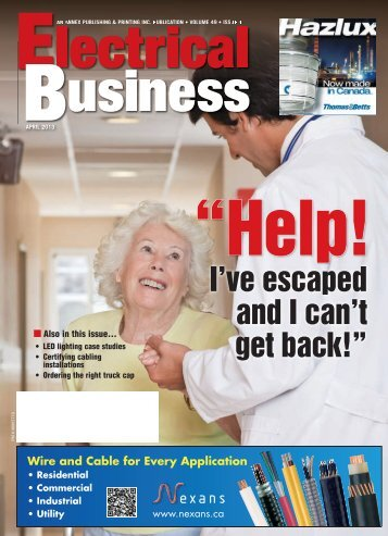 """I've escaped and I can't get back!"""" - Electrical Business Magazine"""