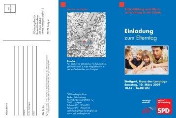 Einladung Elterntag 2007 - Alfred Winkler, SPD