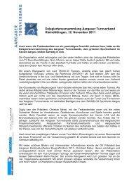 Delegiertenversammlung Aargauer Turnverband Kleindöttingen, 12 ...