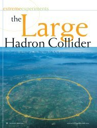 The Large Hadron Collider - Scientific American Digital