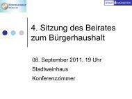 Folien der 4. Sitzung vom 08.09.2011 - Bürgerhaushalt