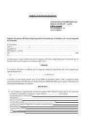Modello di dichiarazione per l'iscrizione - Agenzia Interregionale per ...