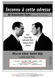 Compagnie Théâtre en Fusion - Theatre-contemporain.net