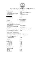 Fee Schedule - Gloucester County Virginia