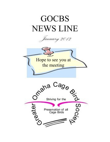 Meetings & Special Event Dates - Greater Omaha Caged Bird Society